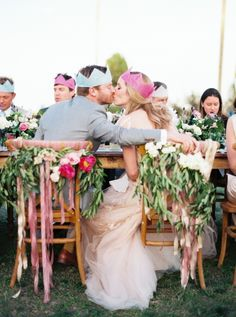 bride and groom wearing crowns - so cute | taylor lord via http://boards.styleunveiled.com/pin/752a6fc94c80ba4f8b2dc8506fcc87f3