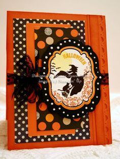 Stampin' Up! Toxic Treats witch Halloween handmade card