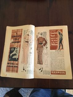 McCall Style News, January 1935 featuring McCall 8066 on the left page, 8055 on the right page