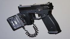 I wanted to create a near future Glock, based off the Glock that utilises a lightweight FLIR camera and display. Sci Fi Weapons, Weapon Concept Art, Weapons Guns, Tactical Pistol, Tactical Gear, Cool Nerf Guns, Graffiti Pictures, Max Steel, Future Weapons