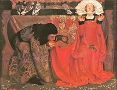 Eleanor Fortescue Brickdale, The Pale Complexion of True Love, 1899