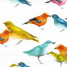 Laura Gunn - Flutter - Birdies in White