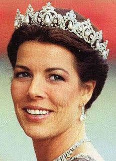 Pearl Drop Tiara worn by HRH Caroline, Princess of Hanover and Hereditary Princess of Monaco