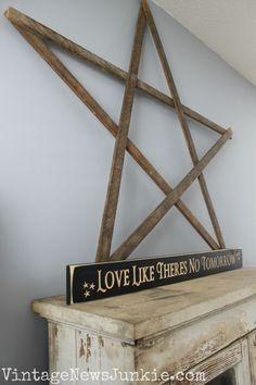 Five Minute DIY Wooden Stars | Vintage News Junkie