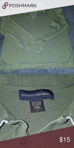 Men's Banana Republic Long sleeve collared shirt Long sleeve olive shirt. Banana Republic Shirts Polos