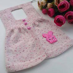 Baby Cardigan, Cardigan Pattern, Baby Knitting Patterns, Free Knitting, Angora, Designs For Dresses, Girls Sweaters, Knitting Needles, Kind Mode