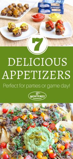 Searching for appetizer recipes for parties? Need some good game day recipes to feed a crowd? Try these 7 delicious appetizer recipes, from cheeseburger bites to sheet pan nachos! Appetizers For A Crowd, Finger Food Appetizers, Food For A Crowd, Yummy Appetizers, Finger Foods, Appetizer Recipes, Snack Recipes, Best Mushroom Recipe, Mushroom Recipes