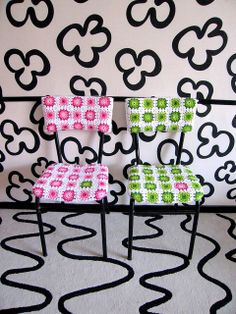 love the chair covers...and the room. made by groovyelisa on flickr.   i just love what she did here!!!