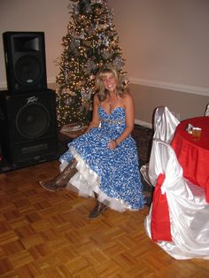 Cowboy boots and ball gowns :-)
