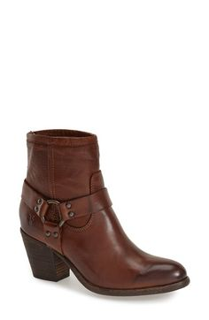Free shipping and returns on Frye 'Tabitha Harness' Short Boot (Women) at Nordstrom.com. Signature side-harness rings style a stacked-heel boot, washed and burnished by hand for a rustic finish. Bench-crafted by hand, Frye's 150-year-old heritage of quality leatherwork is evident in every style.