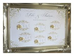 Gold luxury seating plan Deannamic Designs