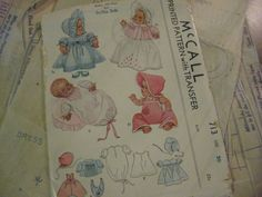 ORIGINAL Doll Clothes PATTERN 713 for 20 inch Dydee Tiny Tears dolls Effanbee
