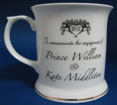 This is a mug made for the Engagement in Nov. 2010 of Prince William or Wills who is the son of Prince Charles and Princess Diana and Catherine or Kate Middleton made by Trent China, England. The bone  Please support our daily efforts to collect photos  from around the world for you by visiting:  http://PinterestBob.net Thanx, Bob Lewis Vietnam Vet '68 B52s