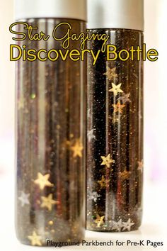 Explore starts, space and constellations with your toddler or preschooler with these Star Gazing Discovery Bottle