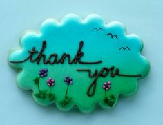The Cookieologist:  thank you cookie