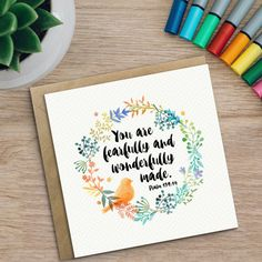 Trust in the lord card proverbs 35 6 card christian cards you are fearfully and wonderfully made christian by izzyandpop m4hsunfo