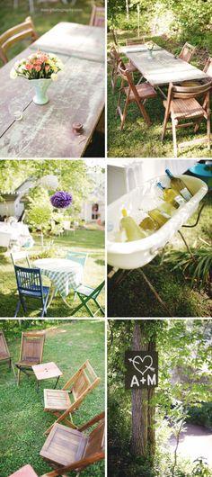 Sweet backyard wedding!