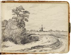 The windmill sketch 1814 by John Constable Victoria and Albert Museum