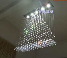 Hanging Ceiling Lights : Hanging Ceiling Light With Wire Rain Drop. Privacy Curtains, Hanging Curtains, Hanging Ceiling Lights, Ceiling Lamp, Dropped Ceiling, Led, Modern Chandelier, Hanging Wire, Lighting