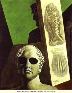 Giorgio de Chirico. Portrait prémonitoire de Guillaume Apollinaire.