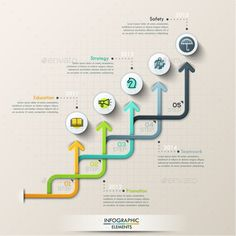 Modern Infographic Paper Arrows Template PSD, Vector EPS, AI. Download here: http://graphicriver.net/item/modern-infographic-paper-arrows-template/15257280?ref=ksioks