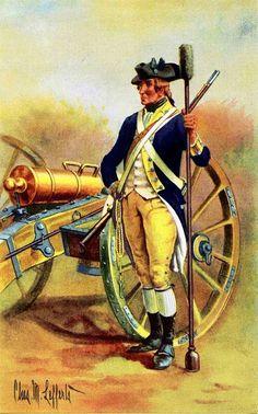 American Revolutionary War Uniform - Captain John Lamb's New York Artillery Company, 1775