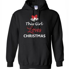 This Girl Loves Christmas Sweatshirt Hoodie by PrintasticApparel♡