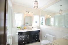 #Dreambuilders designer Nina and Dann's re-designed #bathroom. #design #renovation #homeimprovement  #TeamBlue