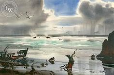 Robert Landry sunset at newport Water Color - Yahoo Image Search Results