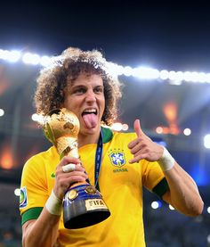 Congratulation to David Luiz for winning another Confederations cup for Brazil. Brazil vs Spain. Confederations cup final. June 30, 2013.