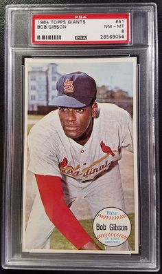 ecc696d2583 1964 Topps Giants #41 Bob Gibson PSA 8 Near Mint-Mint Cardinals MLB Baseball