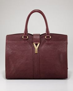 """Yves Saint Laurent ChYc East-West Ranch Bag, Medium - Neiman Marcus.  A """"go with everything bag"""".  A fall must have!"""