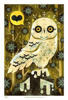 Snowy Owl print by Alberto Cerriteno