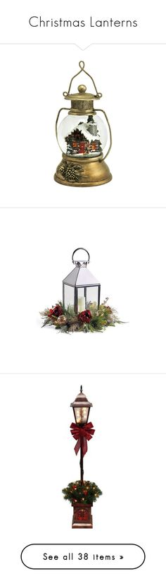 """Christmas Lanterns"" by auntiehelen ❤ liked on Polyvore featuring christmas, christmas decor, natal, home, home decor, holiday decorations, filler, handcrafted christmas ornaments, outdoor holiday decorations and outdoor lanterns"