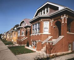 Chicago Bungalows. There are over 80,000 bungalows in Chicago. Most were built in the early 1920s. They circle the city, it's called the Bungalow Belt.