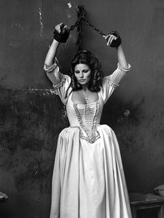 Raquel Welch; production still from Richard Lester's The Three Musketeers (1973)