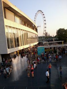 London's South Bank and the Royal Festival Hall.