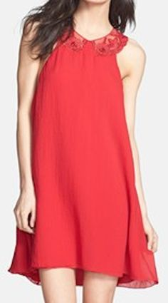 embroidered trapeze neck #dress  http://rstyle.me/n/f3qxkpdpe