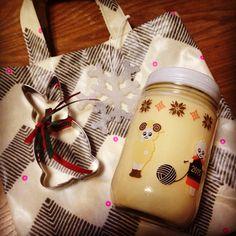 クリスマスプレゼントもらった!わぁーいわぁーい!嬉しい♡♡☺︎♡♡  うさぎ大好き キューピーマヨネーズ kewpie mayonnaise 手作りバッグ