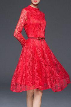 Manjia Sarah Dress in Red