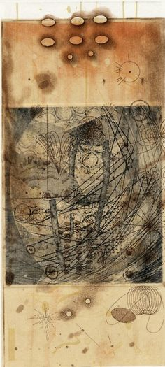 Rosalyn Richards(American b.1947) Sand and Smoke  2002 Etching on Chine Collé