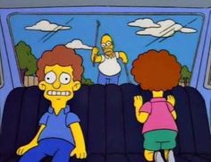 Homer chasing the Flanders car - Terminator Funny - Terminator Funny Meme - - The post Homer chasing the Flanders car appeared first on Gag Dad. Simpsons Quotes, The Simpsons, Simpsons Funny, Great Tv Shows, Futurama, Cool Cartoons, Best Shows Ever, Funny Pictures, Funny Pics