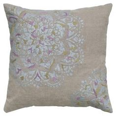 Bring breezy elegance to your master suite or guest room with this gorgeous design, brimming with chic style and feminine appeal.Product: PillowConstruction Material: LinenColor: Natural
