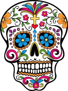 Items similar to mexican sugar skull sticker on Etsy Candy Skulls, Sugar Skulls, Sugar Skull Images, Mexican Skulls, Mexican Art, Mexican Candy, Mexican Style, Los Muertos Tattoo, Capas Samsung