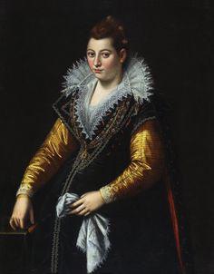 Lavinia Fontana (Bologna,1552 - Roma,1614) ~ Autoritratto in gravidanza (Self Portrait in Pregnancy)
