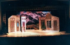 Seven Brides for Seven Brothers set and lighting design by Martin W. Jennings