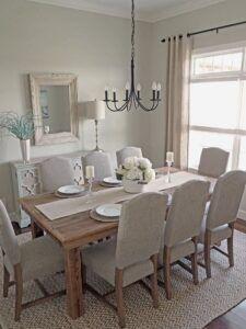 Contemporary Dining Room In 2020 Farmhouse Small Formal Decor