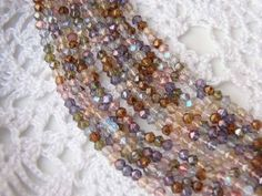 English cut pastel lustre colour mix Czech glass 4mm 50pc WBS0037, €1,20
