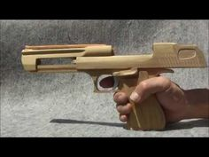 BLOW⇔BACK RUBBER BAND GUN 04.1 I.W.I DESERT EAGLE blowback mechanism is added - YouTube
