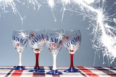 houses decorated for the 4th of july | Decorating Glasses For 4th Of July | Shelterness